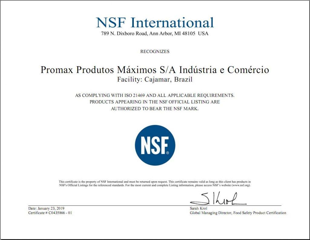 certificado nsf