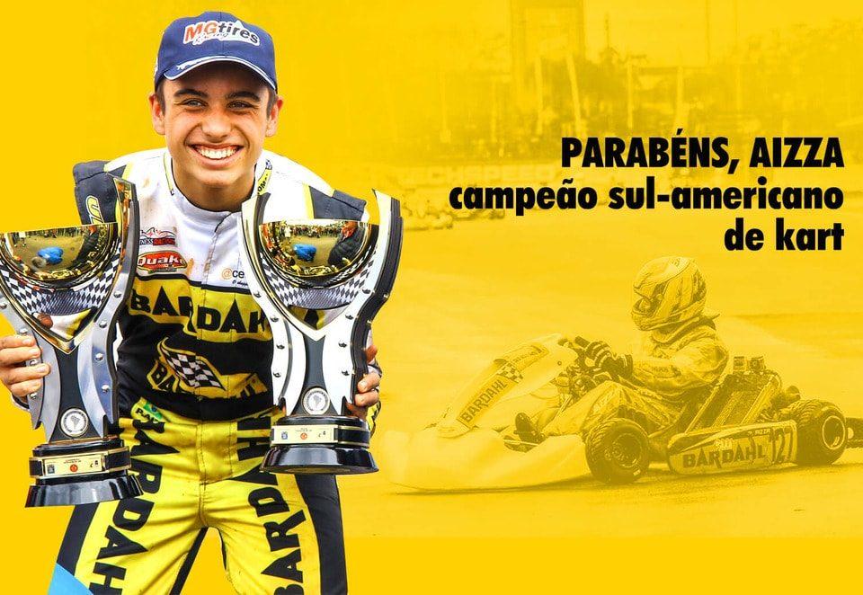 Pedro Aizza campeão sul americano de Kart