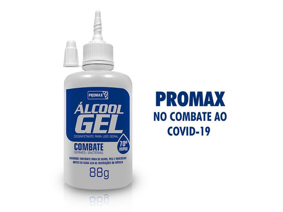 alcool em gem promax