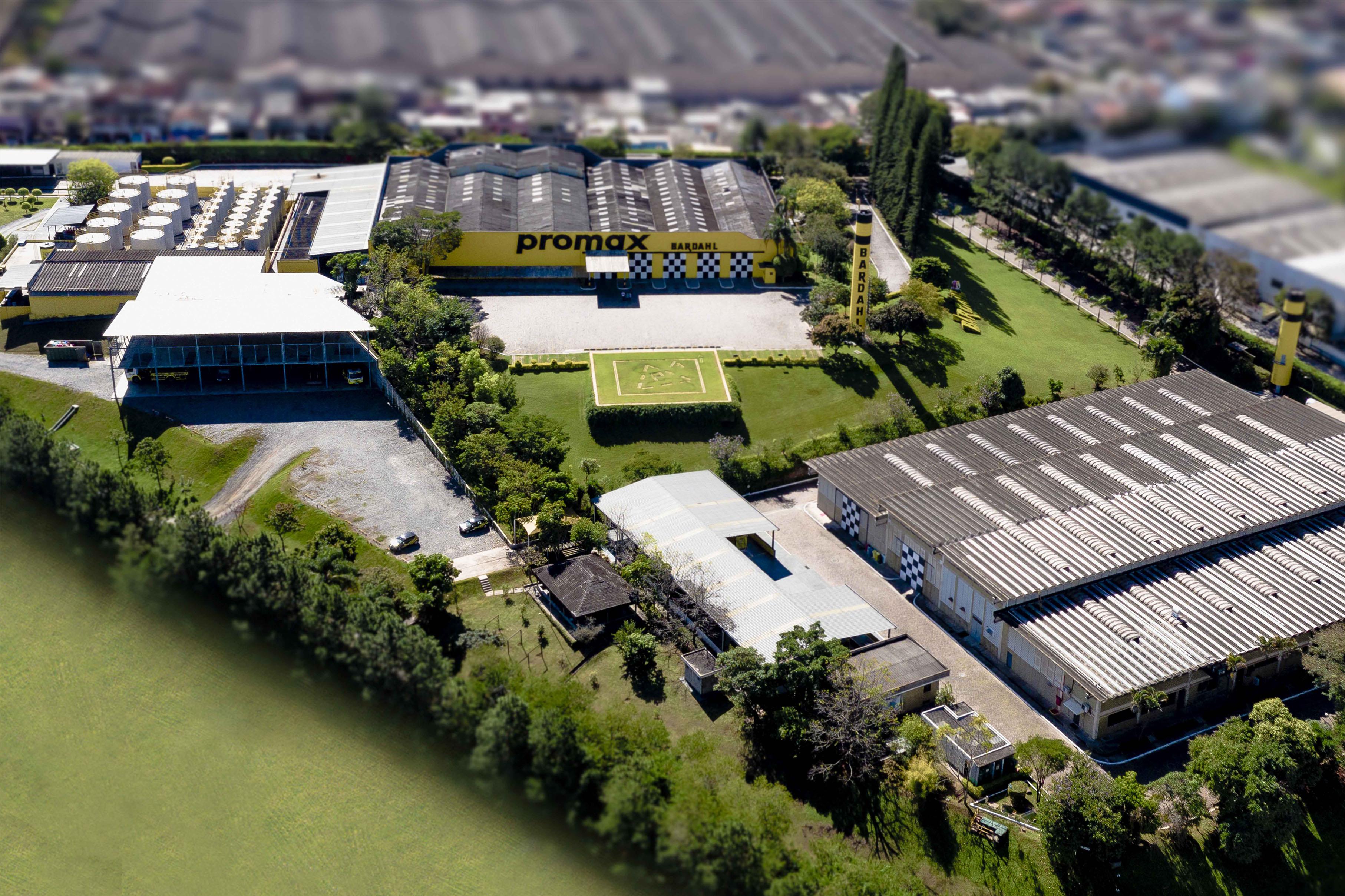 Imagem área da fábrica
