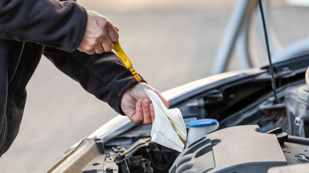 Nível do óleo de motor