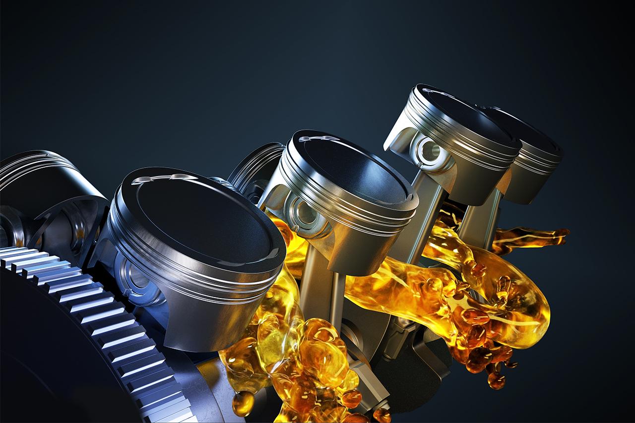 Motor com óleo lubrificante